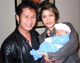 Ca sĩ Thu Phương, cùng bố con Bằng Kiều.