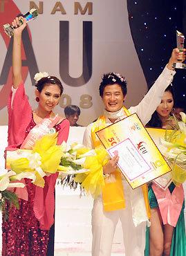Giải vàng Siêu mẫu VN 2008: Hoàng Yến, Xuân Thu.