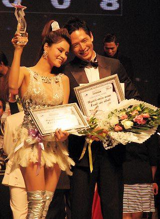 Đôi người mẫu xuất sắc và tài năng của năm 2008.