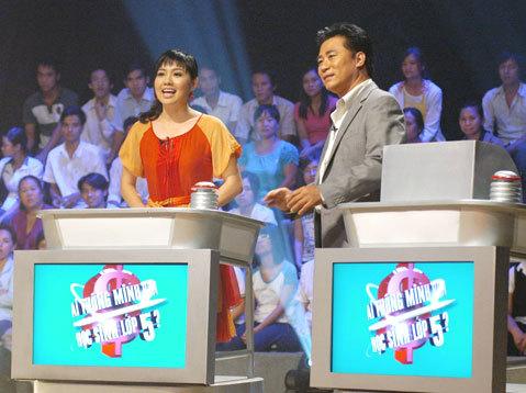 Diễn viên Lê Khánh bên