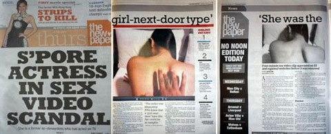 Tờ The New Paper đăng tải về vụ scandal. Ảnh: AB.