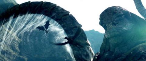 Cảnh chiến đấu với thủy quái Kraken.