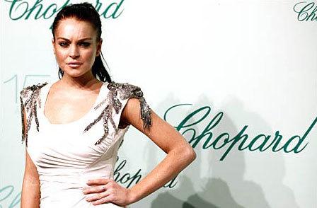 Lindsay tại bữa tiệc kỷ niệm 150 năm của hãng trang sức Chopard, tổ chức tại Cannes.