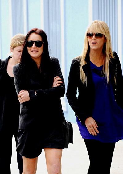 Lindsay và mẹ - bà Dina Lohan. Ảnh: WEN.