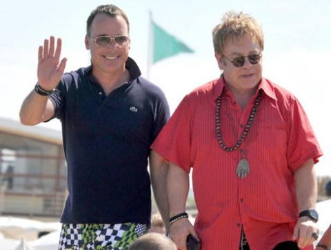 Elton John và chồng - David Furnish. Ảnh: Bauer Griffin.