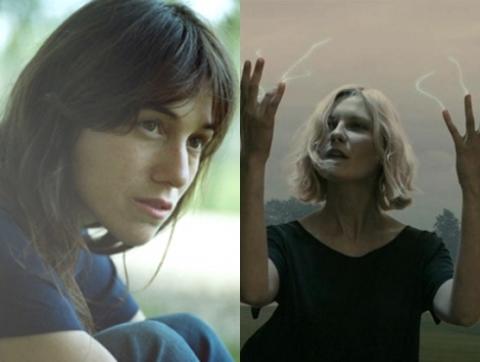 Charlotte Gainsbourg (trái) và Kirsten Dunst vào vai hai chị em Claire và Justine trong