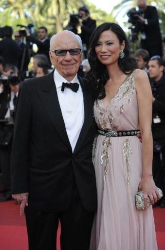 Ông trùm truyền thông Mỹ Rupert Murdoch và vợ Wendi Deng.