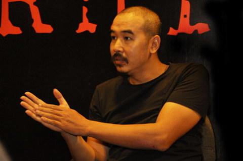 Bùi Thạc Chuyên trong buổi casting tìm diễn viên vào tháng 9 năm ngoái.