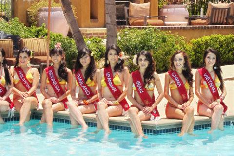 Thí sinh các nước châu Á như Phillippines, Indonesia, Myanmar, Iran... góp mặt tại cuộc thi.