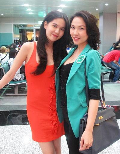 Chuyến đi còn có sự tham gia của người mẫu Quỳnh Thư.