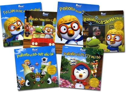 Các ấn phẩm Pororo xuất bản tại Việt Nam.