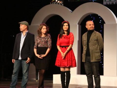"""Bốn vị giám khảo của """"Let's Get Loud 2011""""."""