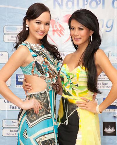 Thúy Vy và ca sĩ Như Loan tham gia vào chương trình từ thiện quy tụ người Việt sống tại Mỹ.