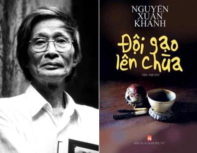 Nhà văn Nguyễn Xuân Khánh và cuốn tiểu thuyết đoạt giải.