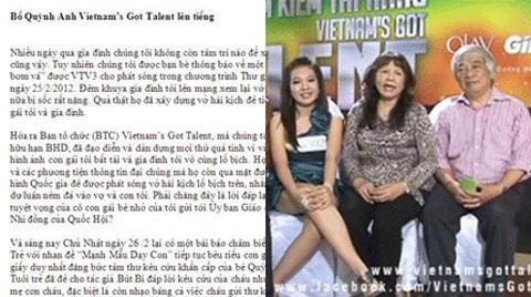 Bức thư của bố Quỳnh Anh gửi đến truyền thông sáng ngày 27/2.