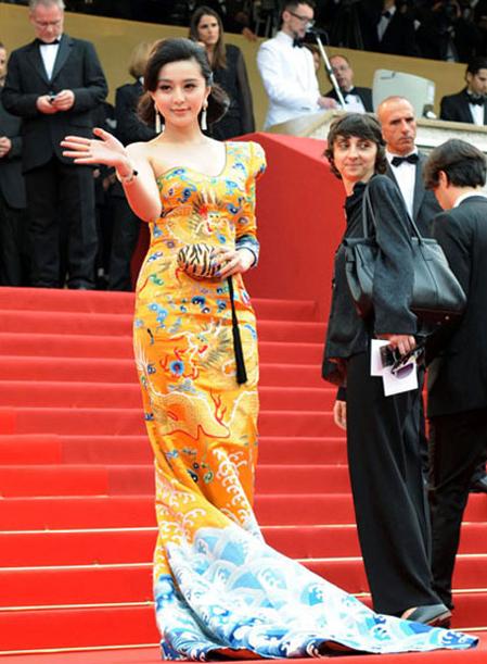 Phạm Băng Băng tại LHP Cannes năm 2010. Ảnh: