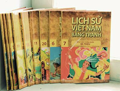 Bộ sách 'Lịch sử Việt Nam bằng tranh' của NXB Trẻ.