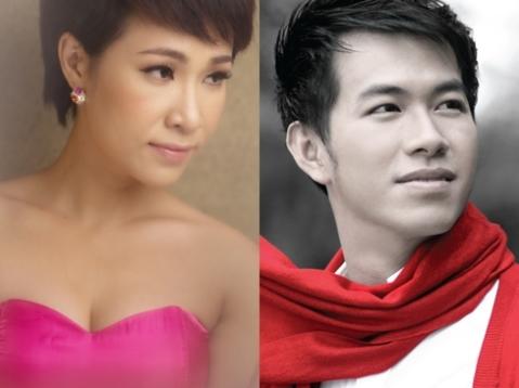 Uyên Linh và Hồ Trung Dũng cùng nhau mơ mộng đêm hè. Ảnh: Quốc Huy.