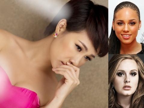 Alicia Keys và Adele là hai giọng ca quốc tế mà Uyên Linh rất yêu mến. Ảnh: Quốc Huy.