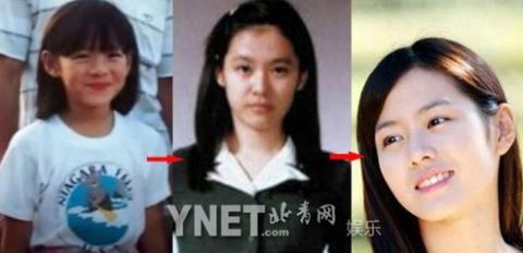 Thời thơ ấu của Son Ye Jin rất đáng yêu, thời thiếu nữ trông xinh đẹp ngọt ngào, khi trưởng thành thì đằm thắm, dịu dàng.
