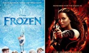 'Frozen' bất ngờ truất ngôi vương của 'Catching Fire'