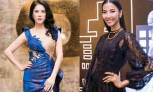 Hoàng Thùy, Thu Phương khoe dáng với váy xuyên thấu