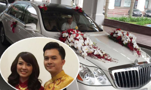 Nam Cường đi xe 20 tỷ đồng rước dâu tại Hà Nội