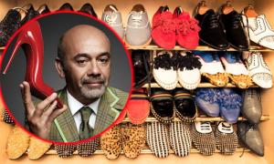 Tủ đồ cao cấp chứa 200 đôi giày của 'ông hoàng' Christian Louboutin