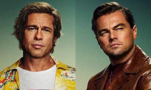 Leonardo DiCaprio, Brad Pitt đối lập phong cách trên poster phim