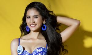 Thí sinh Hoa hậu Thế giới Việt Nam tôn hình thể với bikini