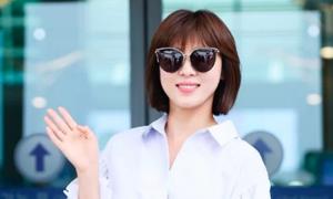 Thời trang sân bay của diễn viên Ha Ji Won