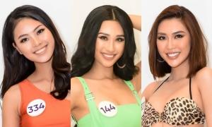 Dàn thí sinh Miss Universe Vietnam trình diễn bikini