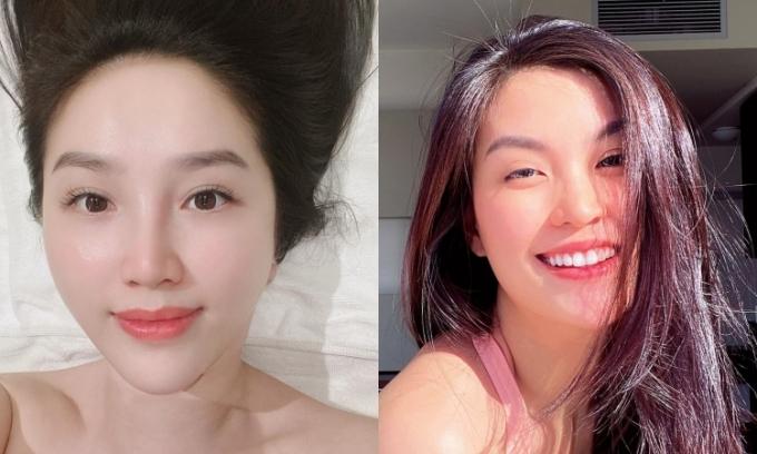 Người đẹp Việt dưỡng mặt mộc khi ở nhà