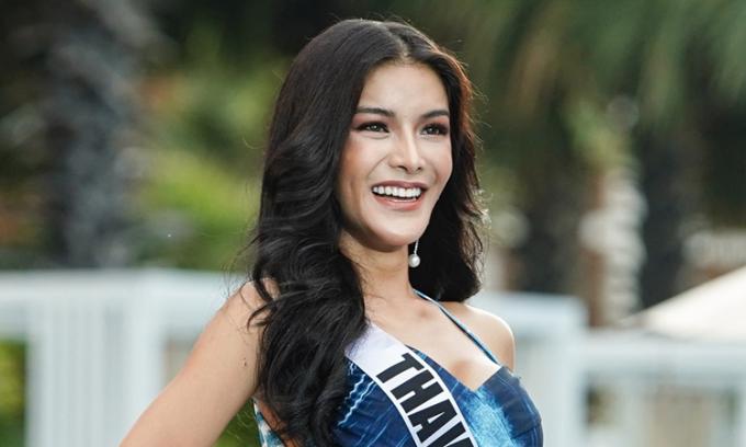 Thí sinh Hoa hậu Hoàn vũ Thái Lan trình diễn áo tắm