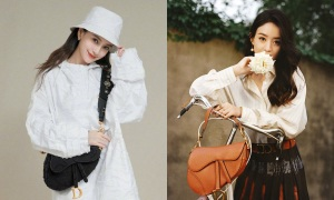 Túi yên ngựa - phụ kiện yêu thích của sao Hoa ngữ