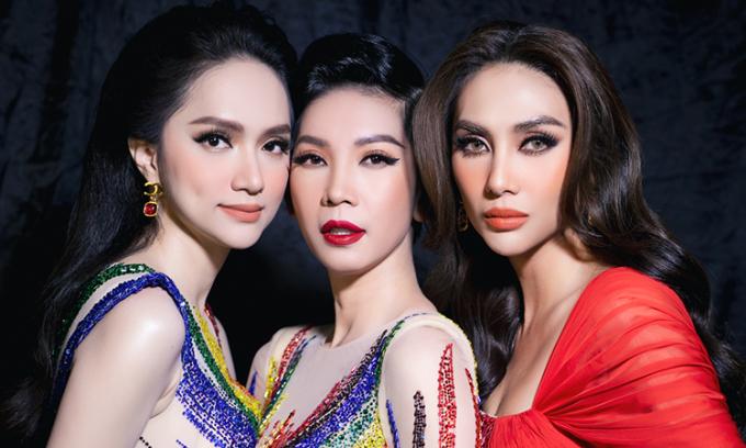 Hương Giang, Hoàng Yến, Xuân Lan đọ catwalk
