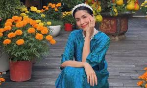 Sao Việt diện áo dài mùng Một Tết