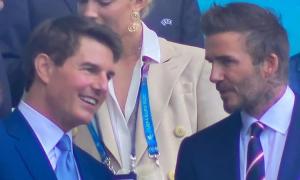 Tom Cruise và David Beckham gây 'sốt' khi xem bóng